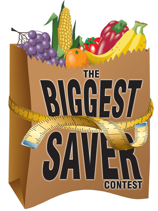 The Biggest Saver bag of groceries